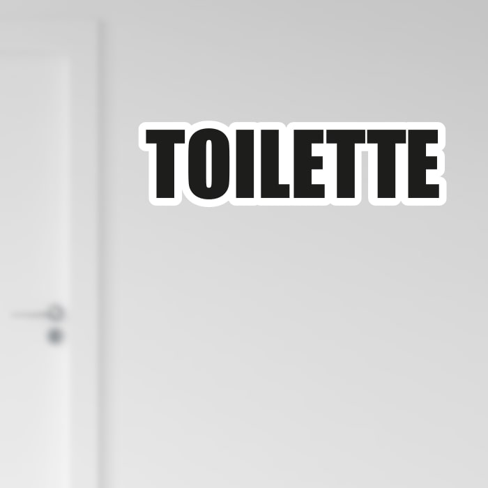 Adesivo Toilette