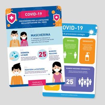 Adesivo indicazioni COVID-19