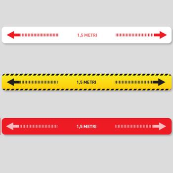 Adesivo per pavimento DISTANZA 1,5 METRI