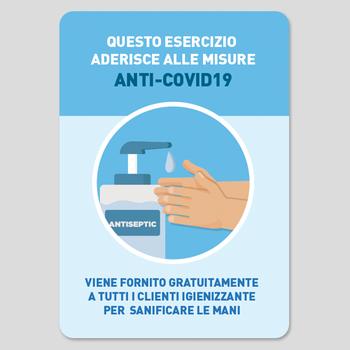 Adesivo vetrina Igienizzante Mani