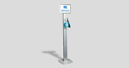 Colonnina dispenser Gel Igienizzante ONE