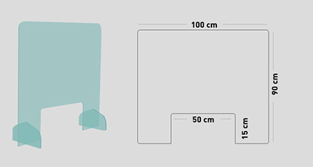 mySHiELD - Schermo protettivo parafiato 100x90 cm