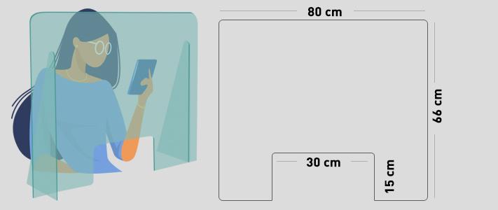 mySHiELD - Schermo protettivo parafiato 80x66 cm